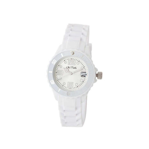 Mono-Date - Teens Girls Kids Fashion Watch - white / silver Watches shop cactus watches