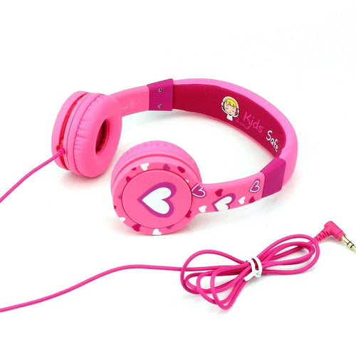 Headphones - Comfort Children Headphones - Cactus Over-Ear Earphone For Kids - Pink/White
