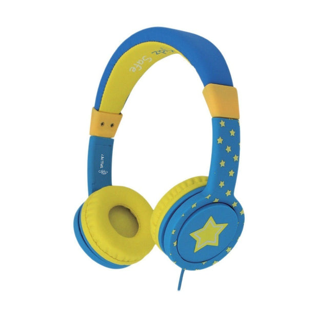 Comfort Kids Headphones | Safe Volume Limited Over-Ear Earphones - Green/Blue Headphones Cactus Watches