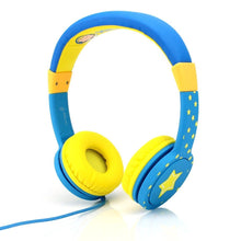 Headphones - Comfort Kids Headphones | Safe Volume Limited Over-Ear Earphones - Green/Blue