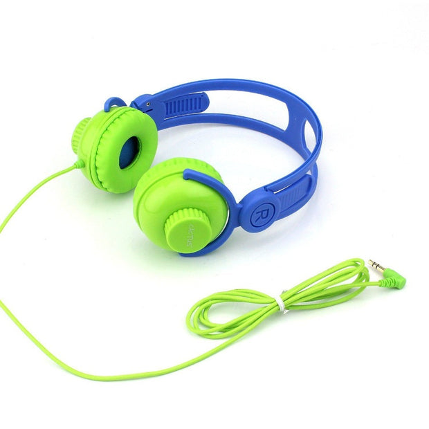 On Ear Volume Control Kids Headphones - Green/Blue Headphones Cactus Watches