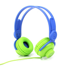 Headphones - On Ear Volume Control Kids Headphones - Green/Blue