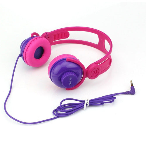 Headphones - On-Ear Volume Control Kids Headphones - Pink/Purple