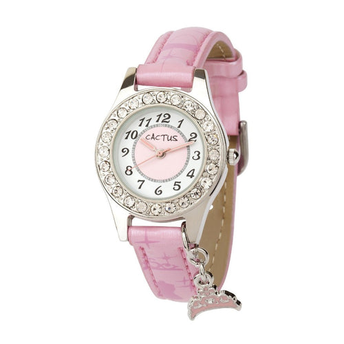 Bedazzled Sparkling Girls Watch - Pink Watches shop cactus watches
