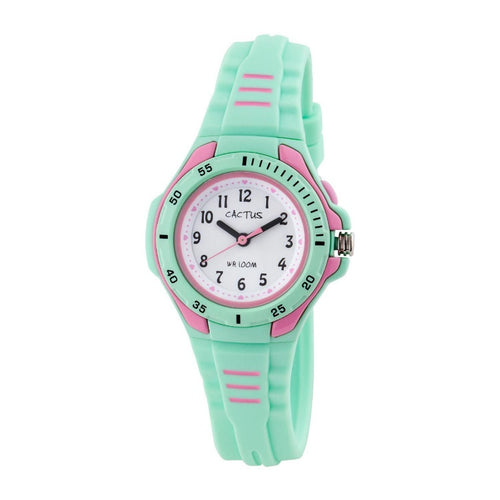 Bliss - Kids Waterproof Watch - Green / Pink Fresh Watches shop cactus watches