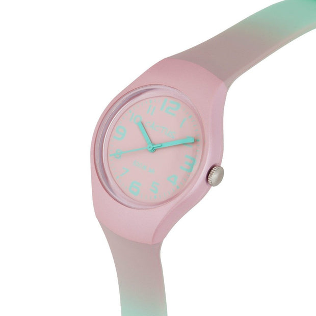 Ombre - Pink / Mint Popular Watch with Ombre Shaded band Watches shop cactus watches