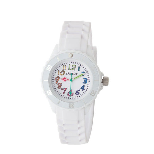 Rainbow - Easy Time Teaching - Kids Watch - White Watches shop cactus watches