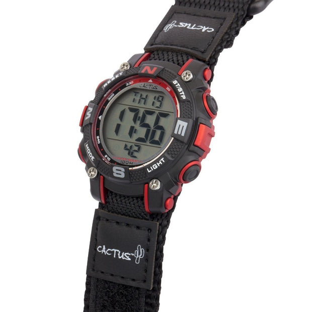 Robust - Kids Digital Boys Watch - Black/Red Watches shop cactus watches