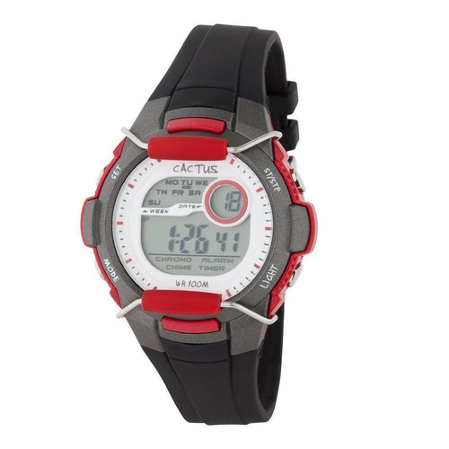 Watches - Shield - Kids Digital LCD Watch - Black/Red