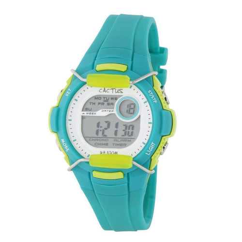 Shield - Tough Boys' Kids Watch - Aqua / Lime Watches shop cactus watches