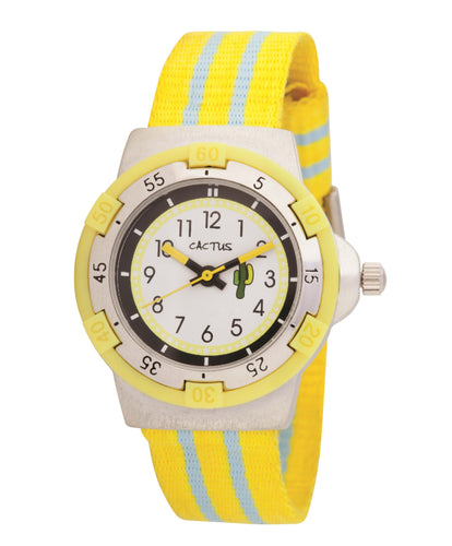 Stripes - Kids / Youth Watch - Nylon Strap Design Watches shop cactus watches