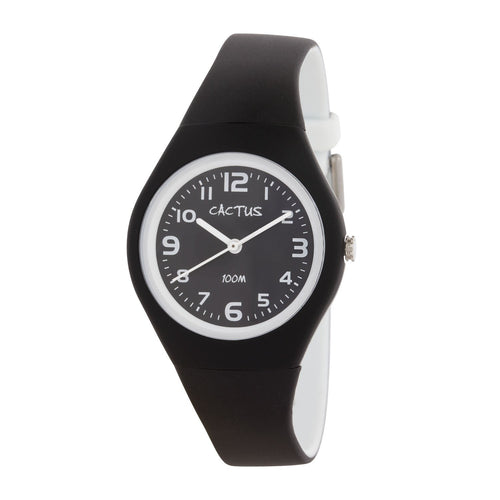 Watches - Summertime - Kids Waterproof Watch - Black / White