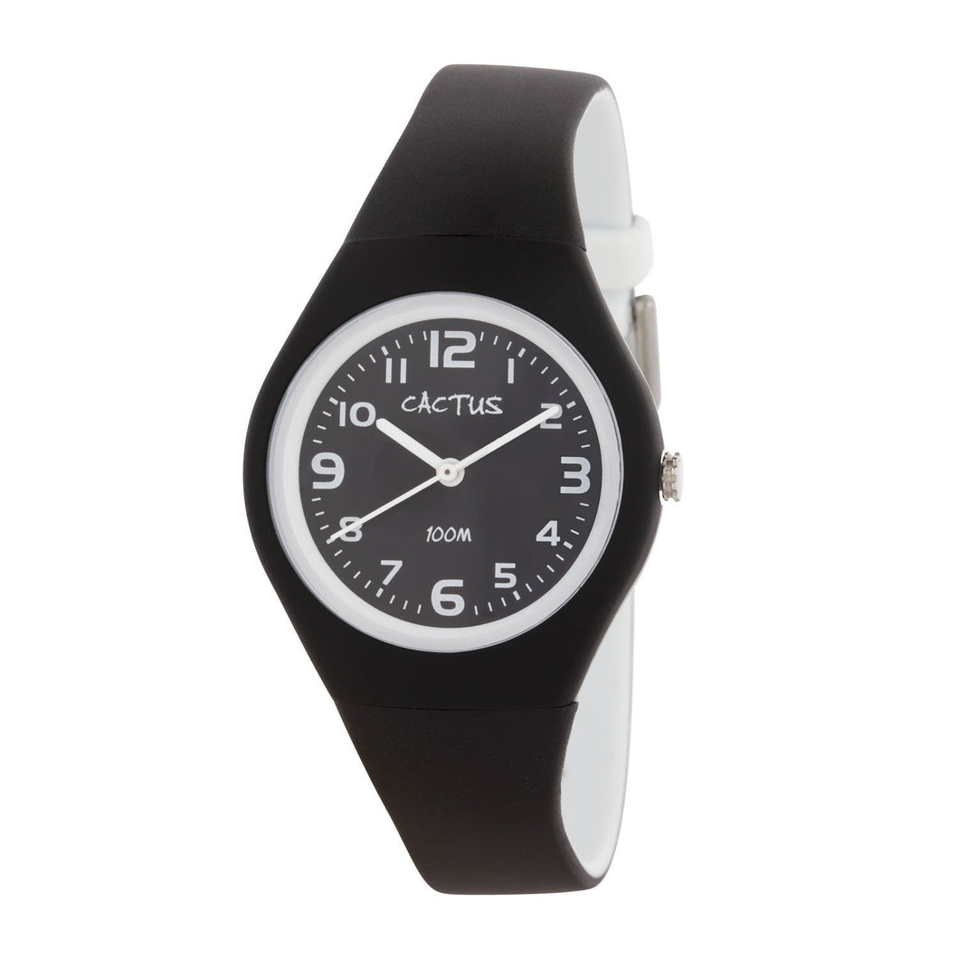 Summertime - Kids Waterproof Watch - Black / White Watches shop cactus watches