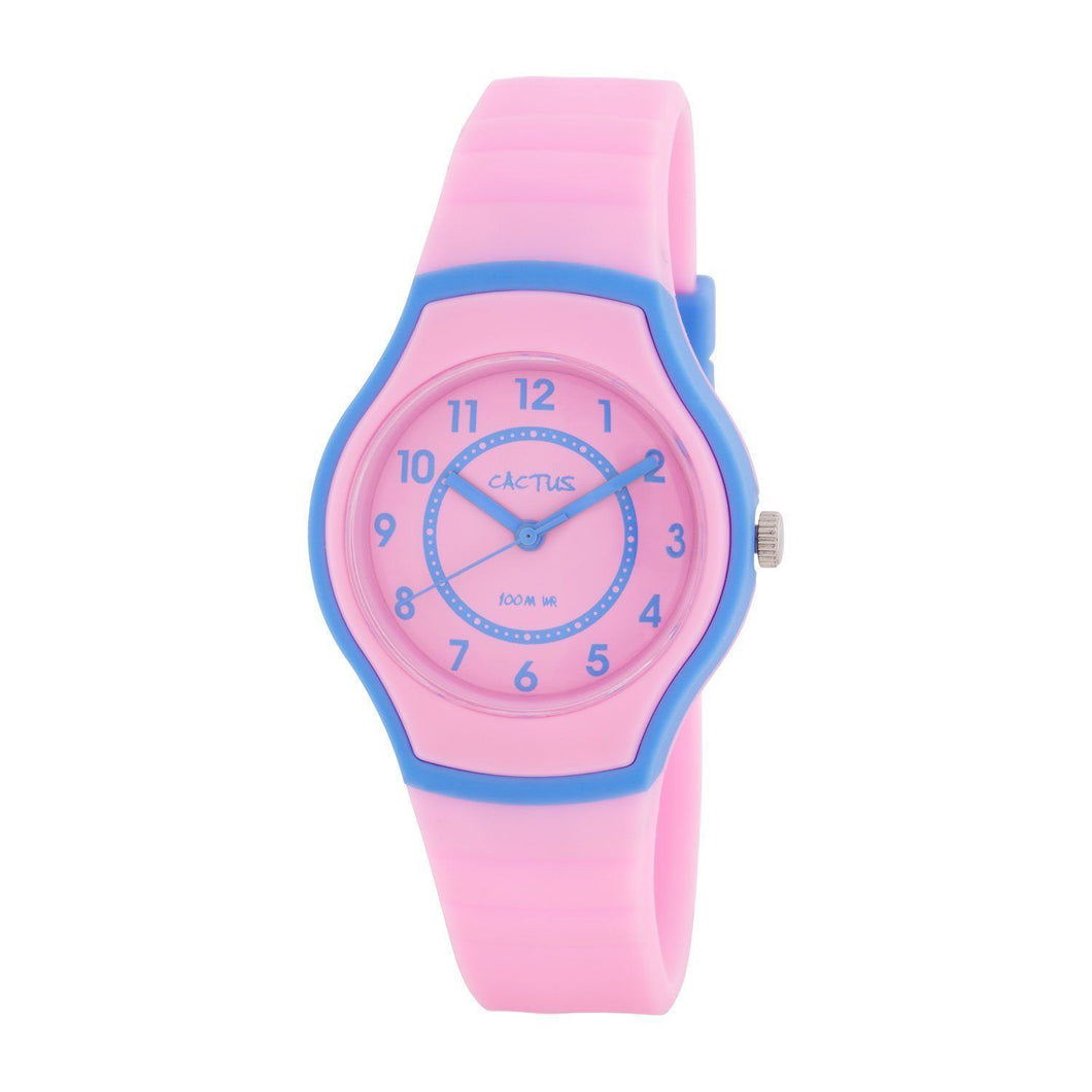 Sunset - Kid's Waterproof Watch, Slim, Sleek - Pink/Blue Watches shop cactus watches