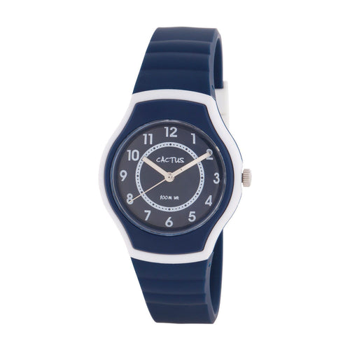 Sunset - Kids, Tweens, Teens Waterproof Watch - Navy Blue/White Watches shop cactus watches