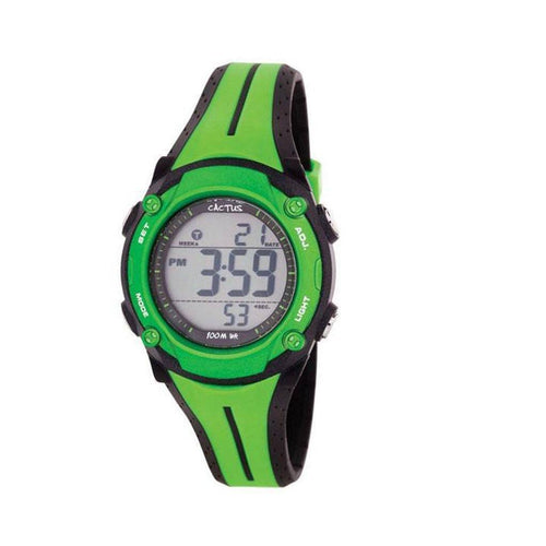 Surf Tech - Green Digital Waterproof Kids Watch Watches shop cactus watches