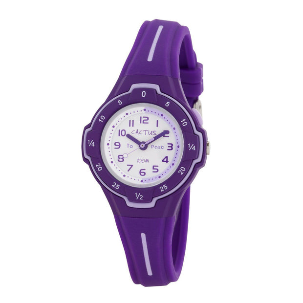 Time Guide - Time Teacher Watch for Kids - Purple Watches shop cactus watches