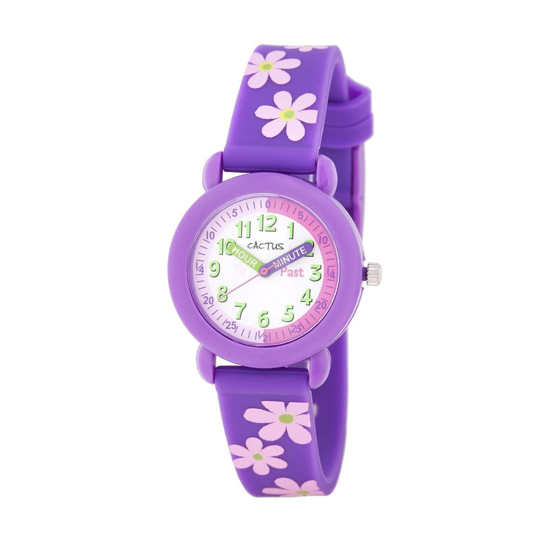 Watches - Time Keeper - Kids Watch - Purple / Flowers