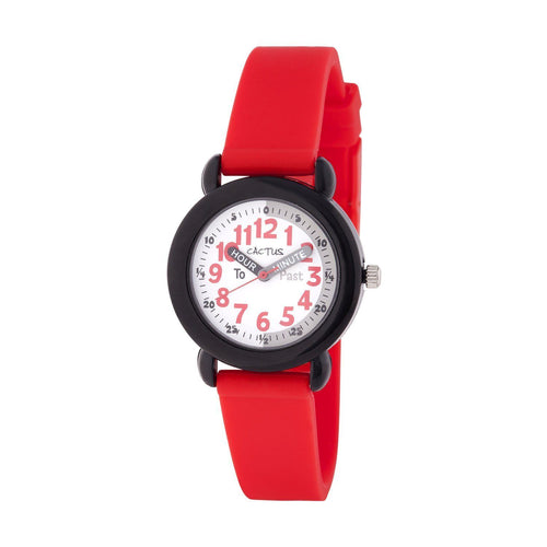 Timekeeper - Kids Watch Time Teacher - Red Watches shop cactus watches