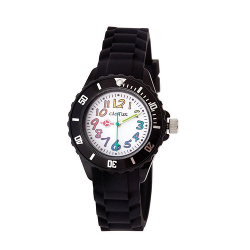 Time Teacher - Rainbow - Kids Watch - Black Watches shop cactus watches