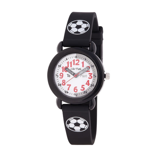 Watches - Timekeeper - Kids Watch - Black / Soccer Ball