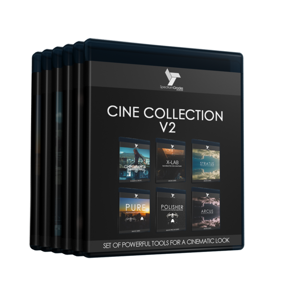 Complete Cine Collection Presets LUTs : PURE, Chromatica, X-LAB, Stratus, Arcus & Polisher V2