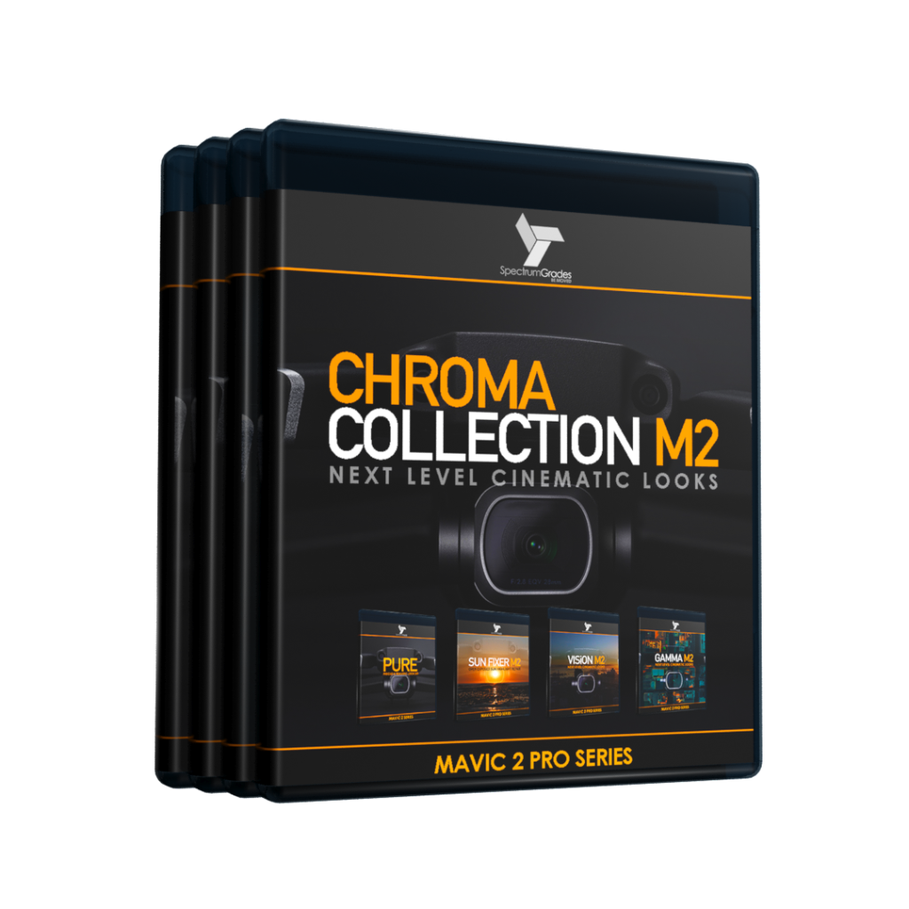 Chroma Collection M2 - Dji Mavic 2 Pro LUTs & Tools Set - GAMMA M2, VISiON M2, PURE, SUN FIXER