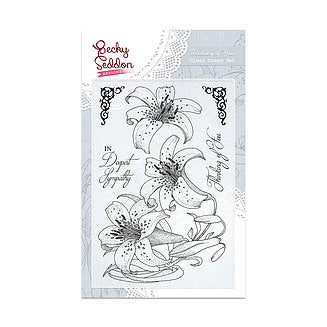 Becky Seddon 'Thinking Of You' A6 Clear Stamp Set - DaliART