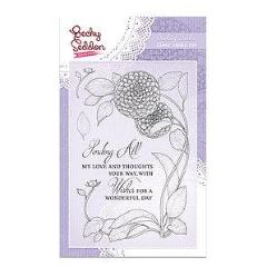 Becky Seddon 'Darling Dahlia' A6 Clear Stamp Set - DaliART