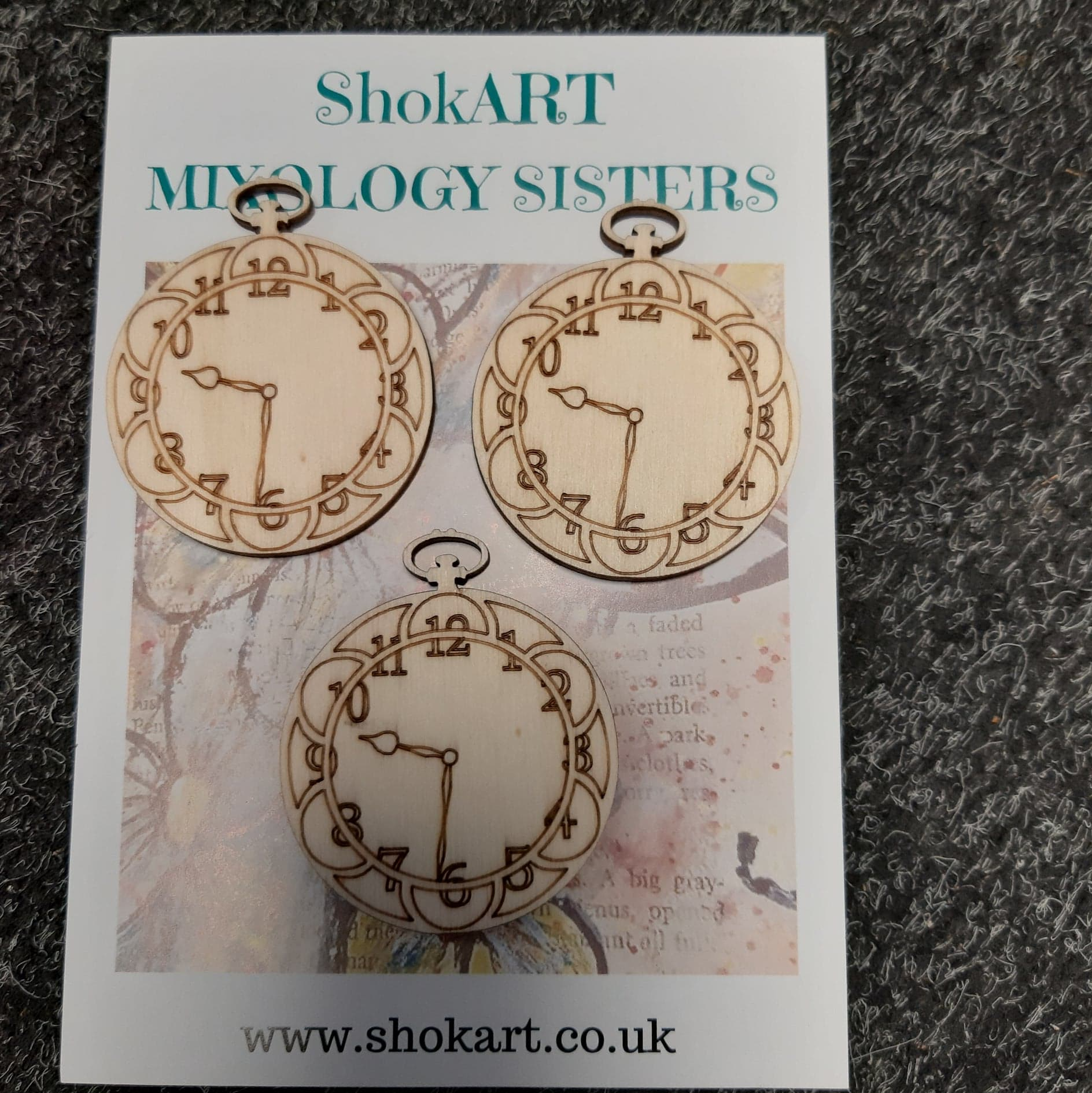 ShokART Wooden Clock Faces, Craft Shapes & Bases by The Craft House
