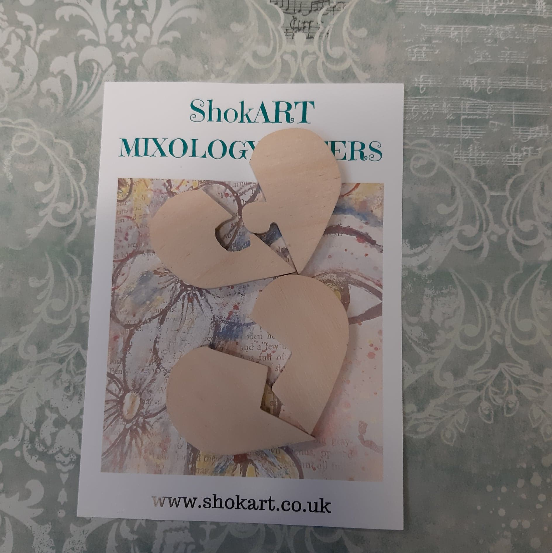 ShokART - Wooden Jigsaw Hearts, Craft Shapes & Bases by The Craft House