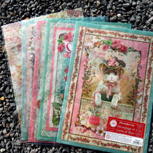 Load image into Gallery viewer, DaliTV10 - Pink Christmas Rice Papers x5
