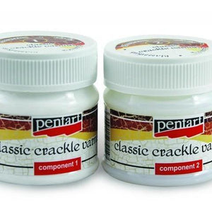 Pentart Crackle Varnish, Classic, 2 components, 50 ml set