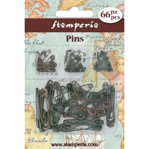 Stamperia Pin Embellishments- 66 pins