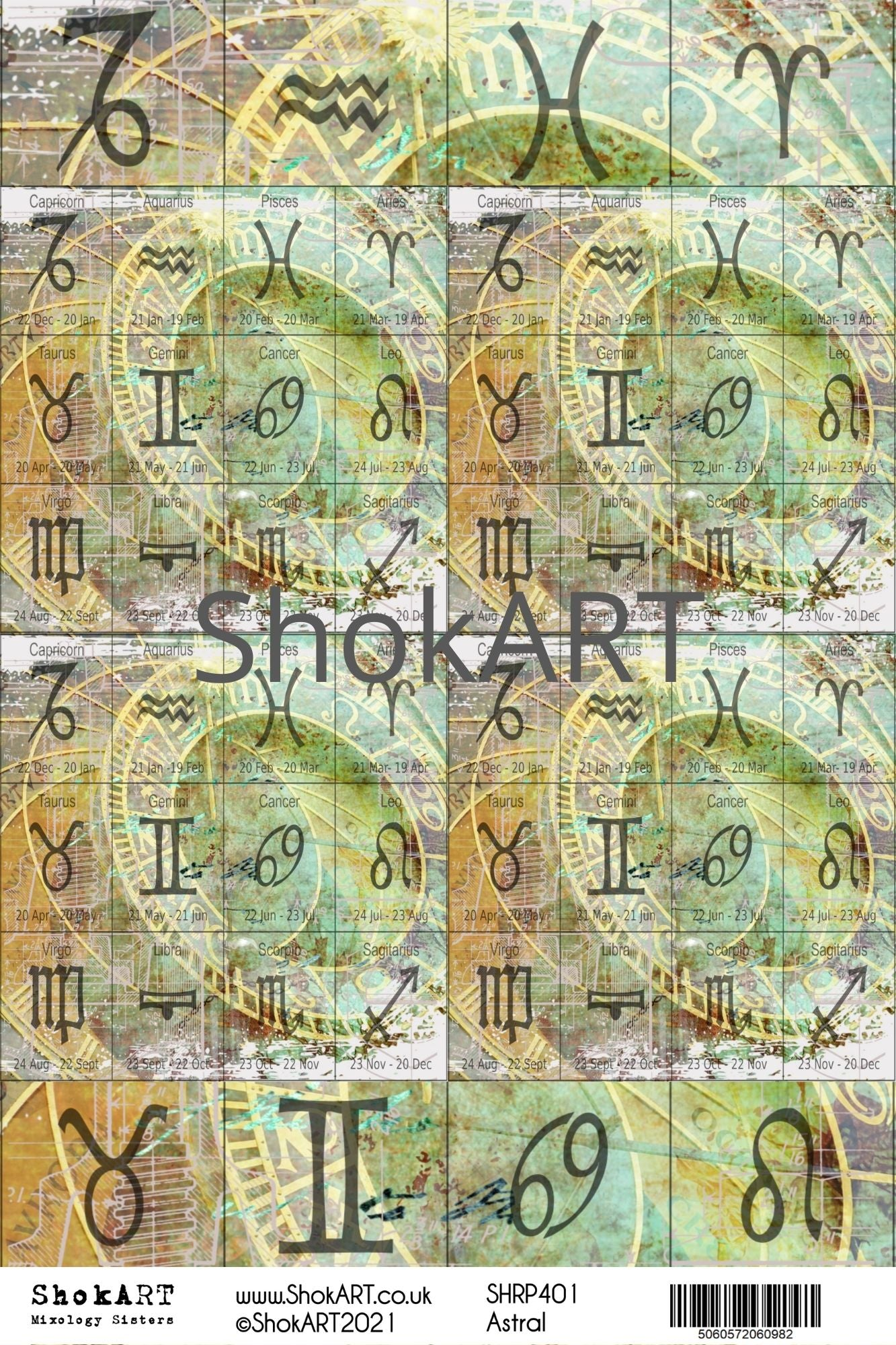 New ShokART A4 Rice Papers - Astral - SHRP401, Arts & Entertainment by The Craft House