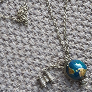 SteamPunk Travel Globe Charm/Necklace