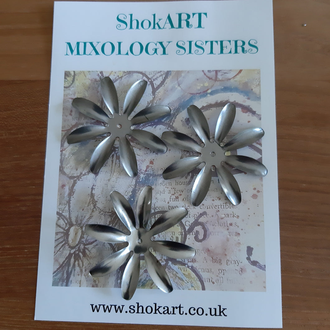 ShokART Metal Embellishments - Large Flowers 6
