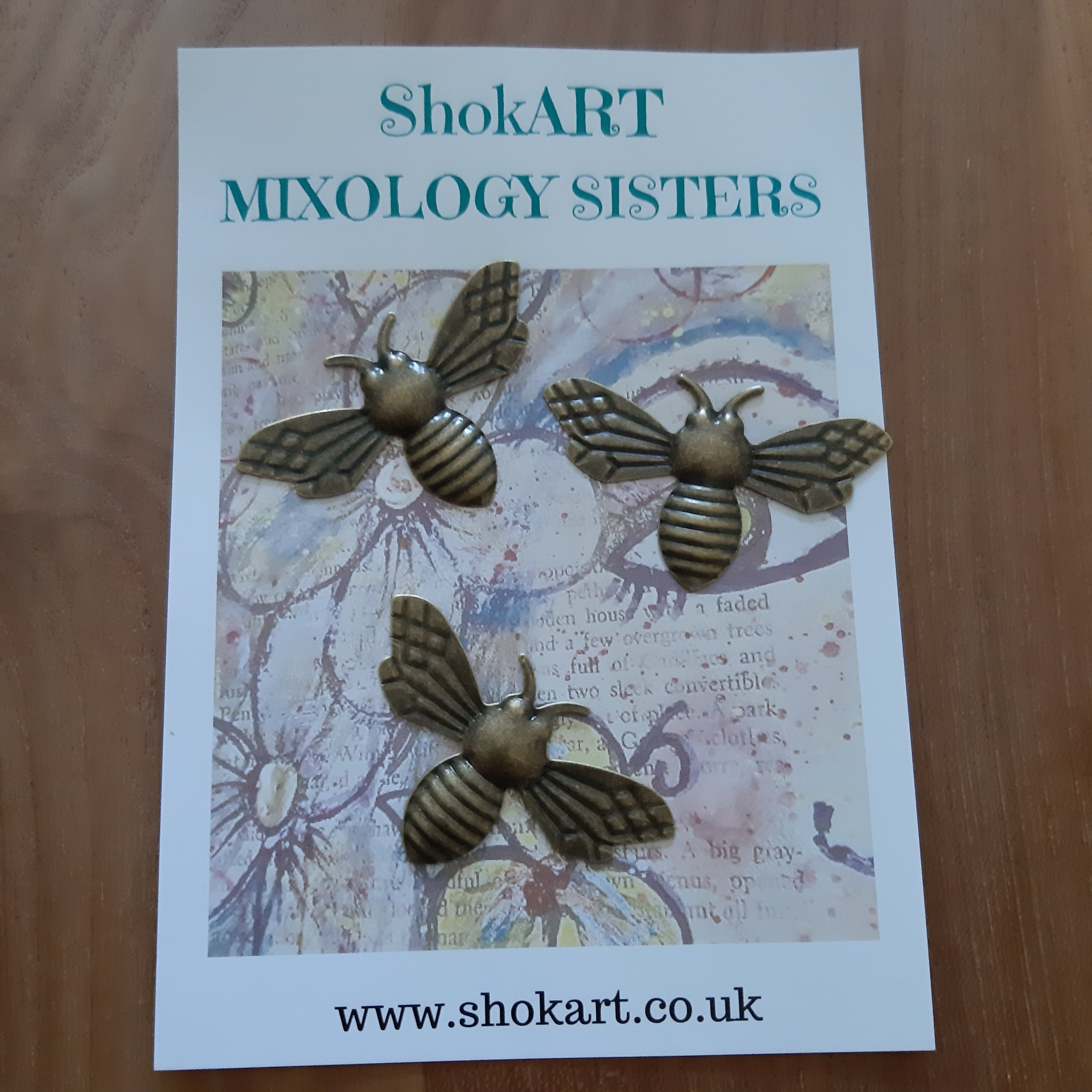 ShokART Metal Embellishments - Bronze Bumble Bees, Embellishments & Trims by The Craft House