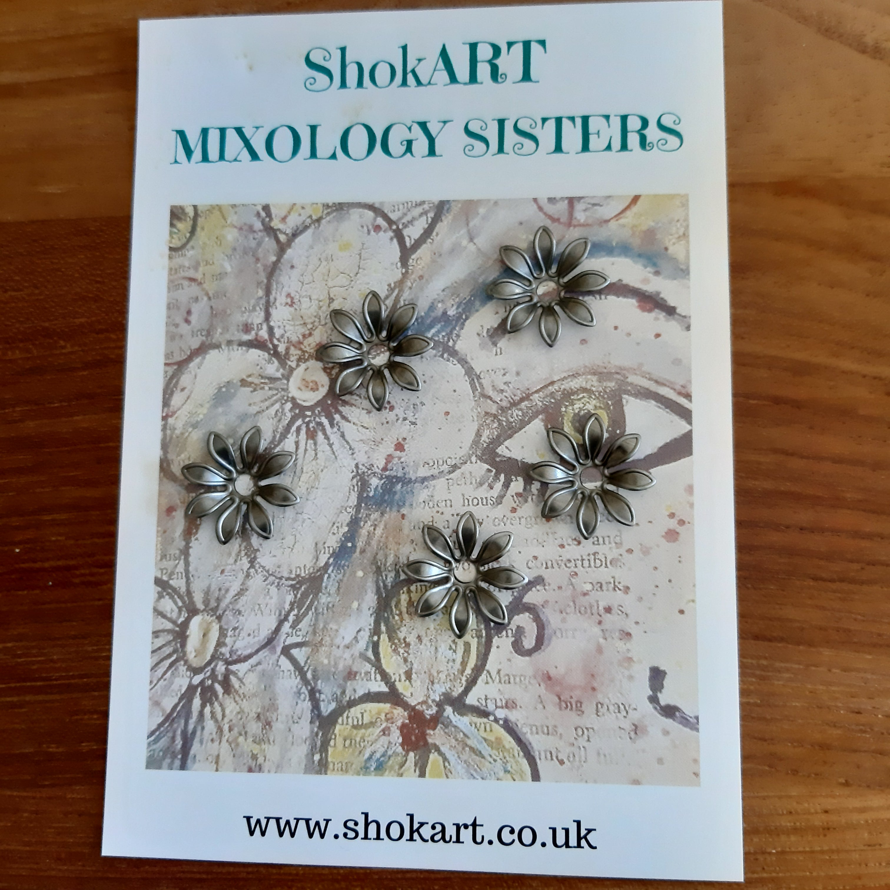 ShokART Metal Embellishments - Small Flowers 15, Arts & Entertainment by The Craft House