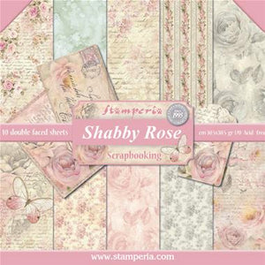 "Stamperia - Shabby Rose Collection - 12"" x 12"" Paper Pad"