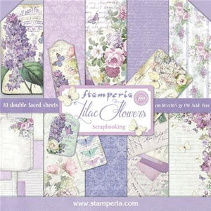 "Stamperia - Lilac Flowers Collection - 12"" x 12"" Paper Pad"