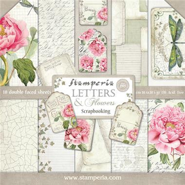 Stamperia - Letters & Flowers Collection - 12
