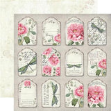 "Stamperia - Letters & Flowers Collection - 12"" x 12"" Paper Pad"