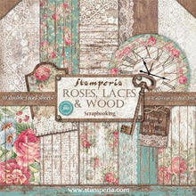 "Load image into Gallery viewer, Stamperia - Roses & Laces - 12"" x 12"" Paper Pad SBBL25"