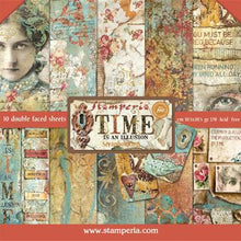 "Load image into Gallery viewer, Stamperia Time is an Illusion  - 12"" x 12"" Paper Pad SBBL33"