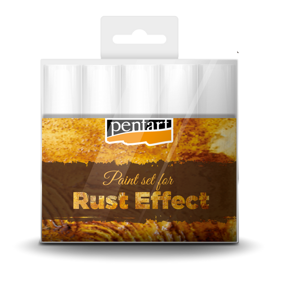 Pentart Rust Effect Paint Set, 5 x 20 ml