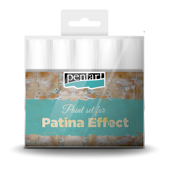 Pentart Patina effect paint set, 5 x 20 ml