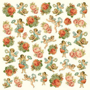 Stamperia 50 x 50cm Decoupage Rice Paper Red Roses- DFT197