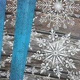 Rustic Snowflakes 4 x A4 Papers
