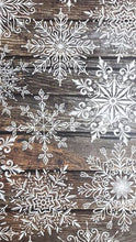 Load image into Gallery viewer, Rustic Snowflakes 4 x A4 Papers